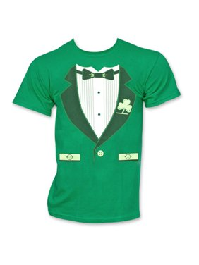 cedded7afe900 Product Image Irish Tuxedo St. Patrick's Day Novelty Graphic Green T Shirt