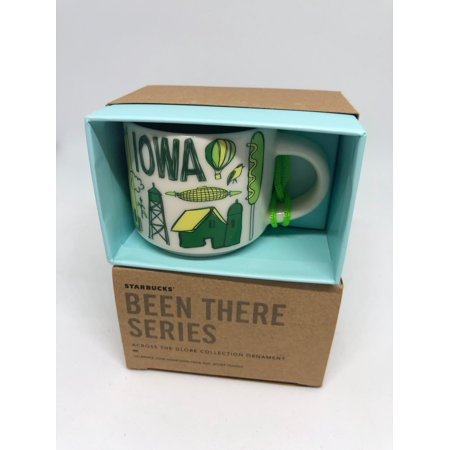 Starbucks Coffee Been There Iowa Ceramic Ornament Espresso Mug New with Box