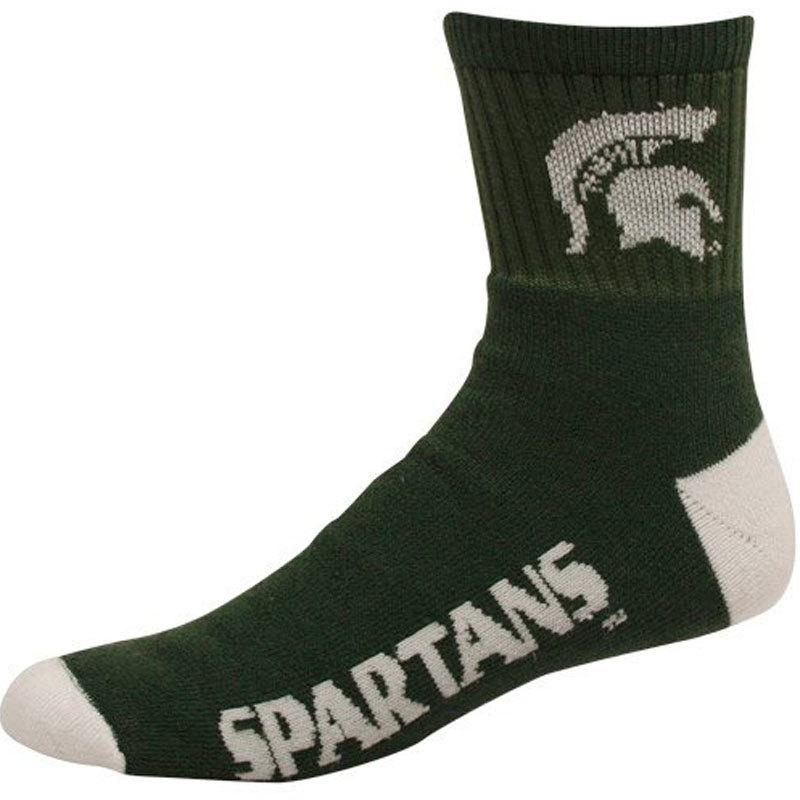 NCAA Michigan State Spartans Team Quarter Socks, Medium [Sports]