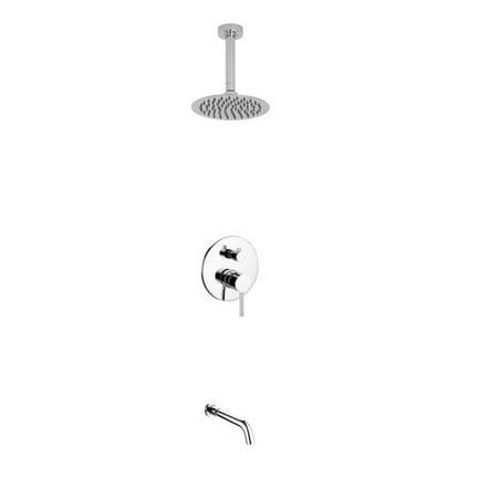 Aqua Rondo Shower Set w/ Ceiling Mount 8