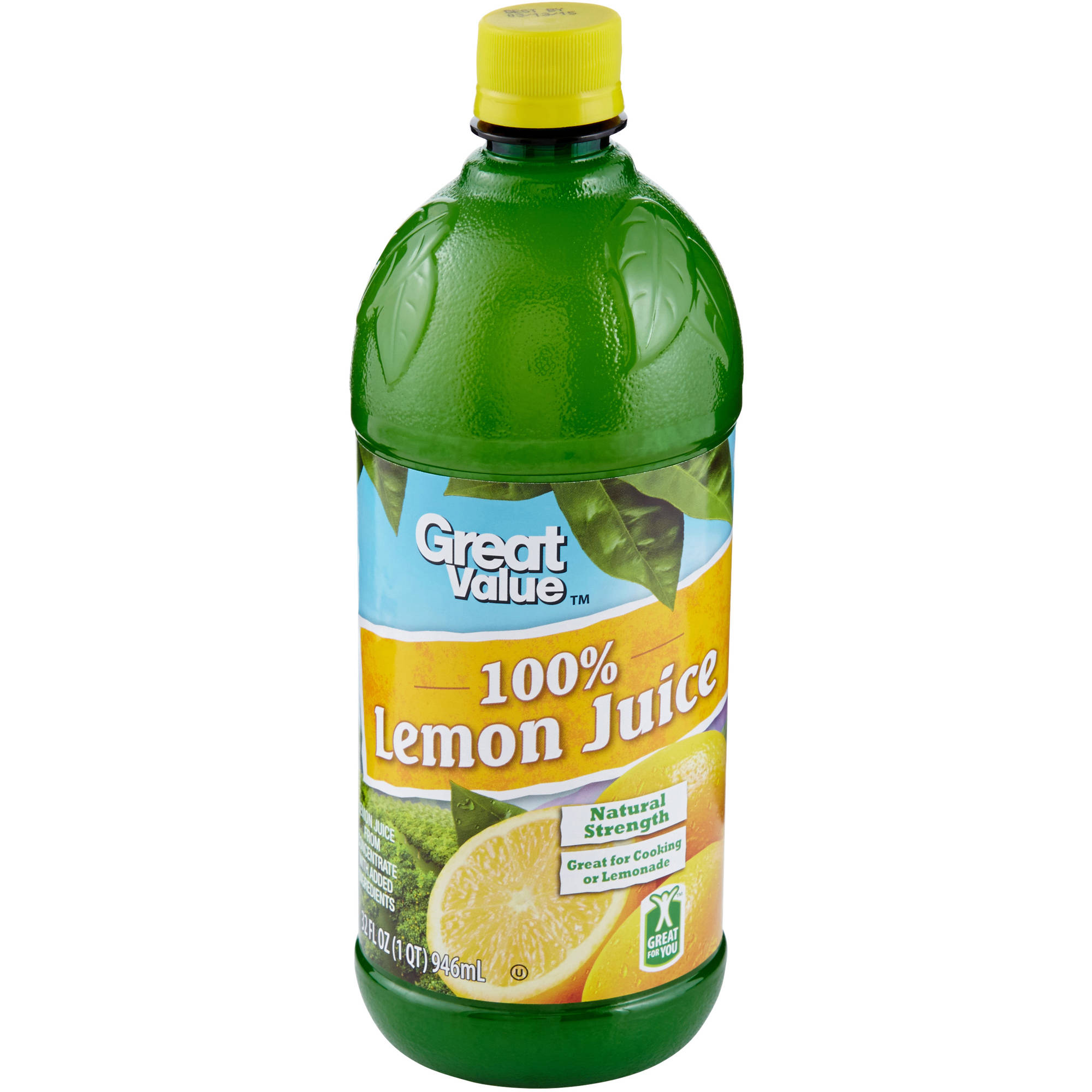 Great Value 100% Lemon Juice, 32 oz