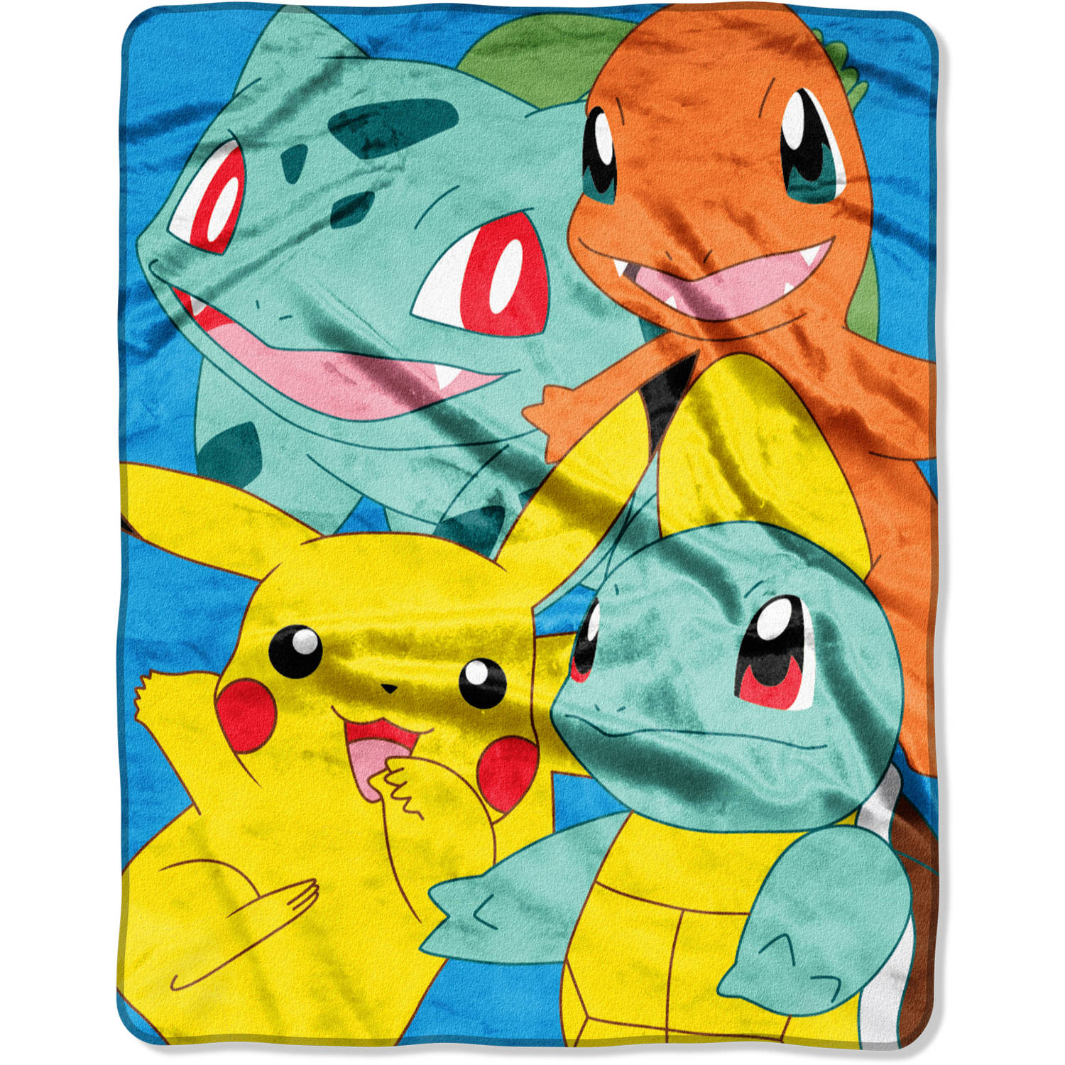 "Pokemon, Kantos Pals 55"" x 70"" Silk Touch Throw"