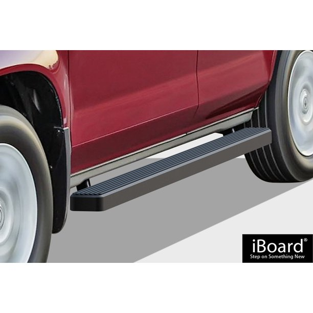 "IBoard Running Boards 4"" Matte Black Custom Fit 2003-2008"