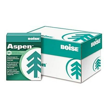 Boise® ASPEN 30 Recycled Copy/Laser Paper, 92 Brightness, 20lb, Letter, 5,000 Sheets