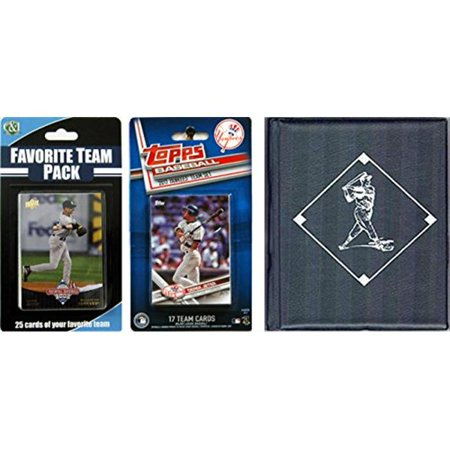 C & I Collectables 2017YANKEESTSC MLB New York Yankees Licensed 2017 Topps Team Set & Favorite Player Trading Cards Plus Storage - Halloween 2017 New Album