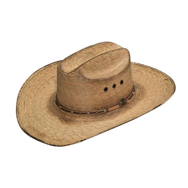 ARIAT Mens Fired Palm Leaf Western Hat