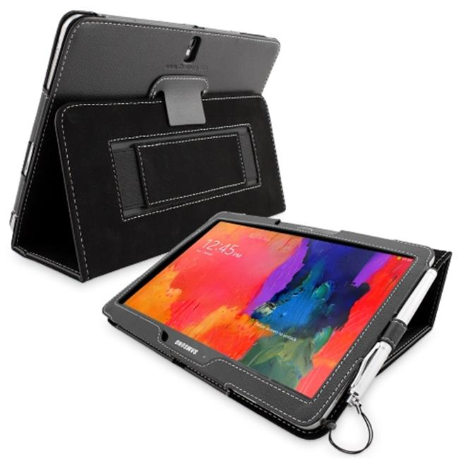 Snugg B00JBF93GW Galaxy Tab PRO 10. 1 Case Cover and Flip Stand, Black Leather