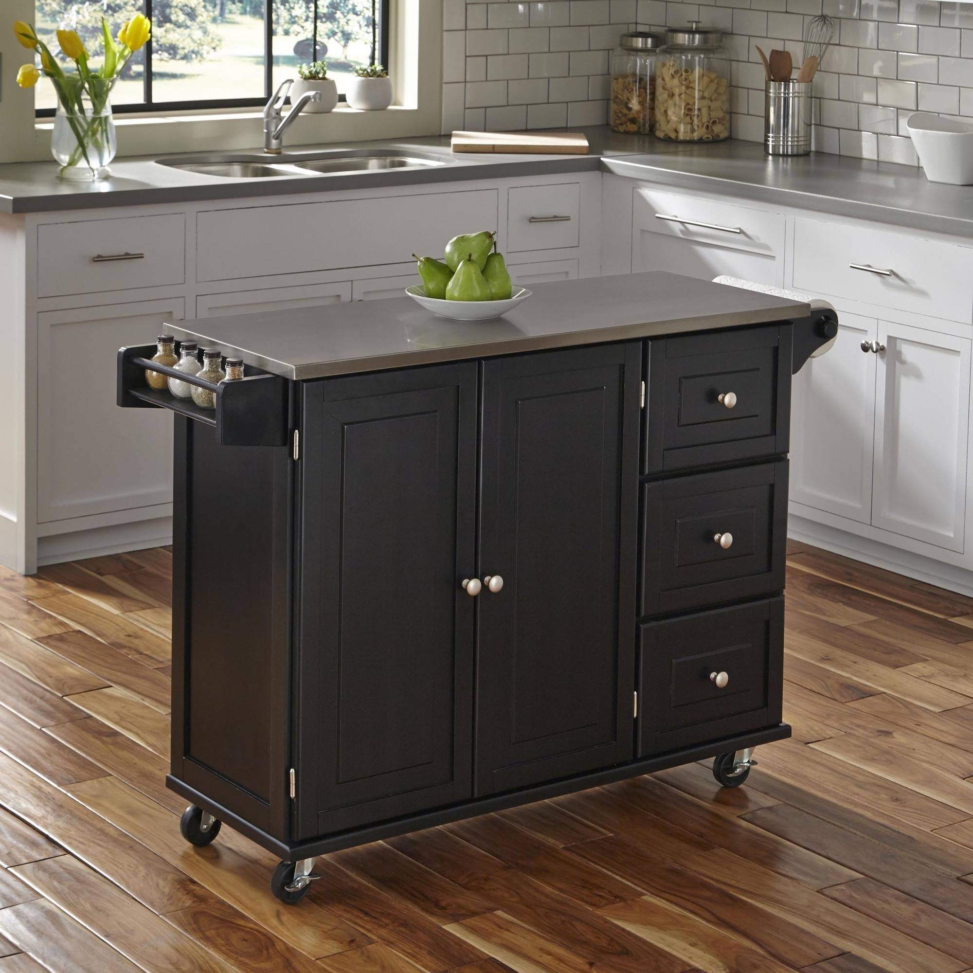 stainless steel kitchen cart stainless steel top kitchen liberty kitchen cart with stainless steel top black