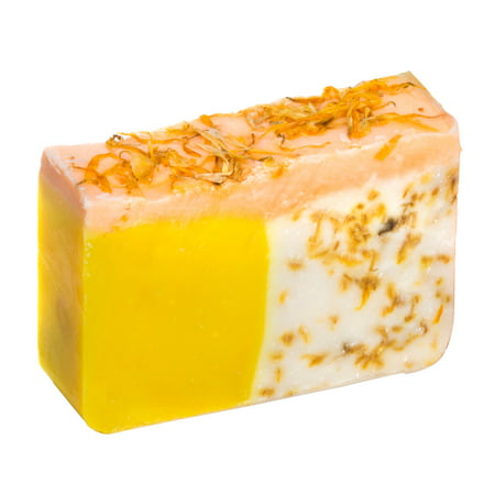 Orange Soap with Calendula Oil (4Oz) - Handmade Soap Bar with Orange, Yuzu and Calendula Essential Oils, flower petals - Organic and All-Natural – by Falls River Soap Company