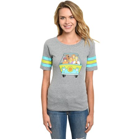 Scooby Doo Shirts For Toddlers (Women Juniors Scooby Doo Mystery Machine Van T-Shirt Front Back Graphics)