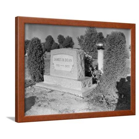 James Dean's Headstone Framed Print Wall Art