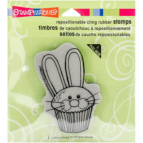 "Stampendous Cling Rubber Stamp 3.5"" x 4"" Sheet, Easter Cupcake"