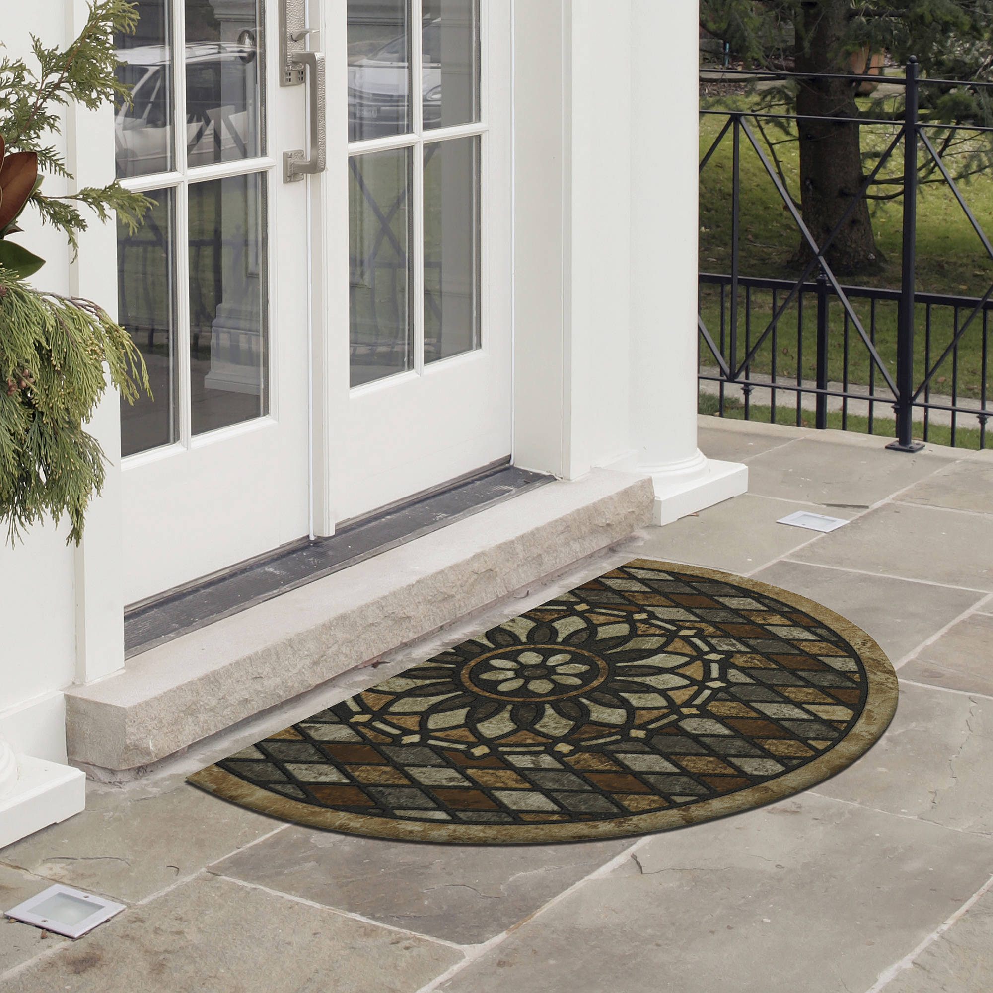 Mohawk Home Stone Slice Recycled Rubber Outdoor Mat