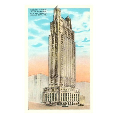 Fidelity National Bank, Kansas City, Missouri Print Wall Art - Party City Kansas City Missouri