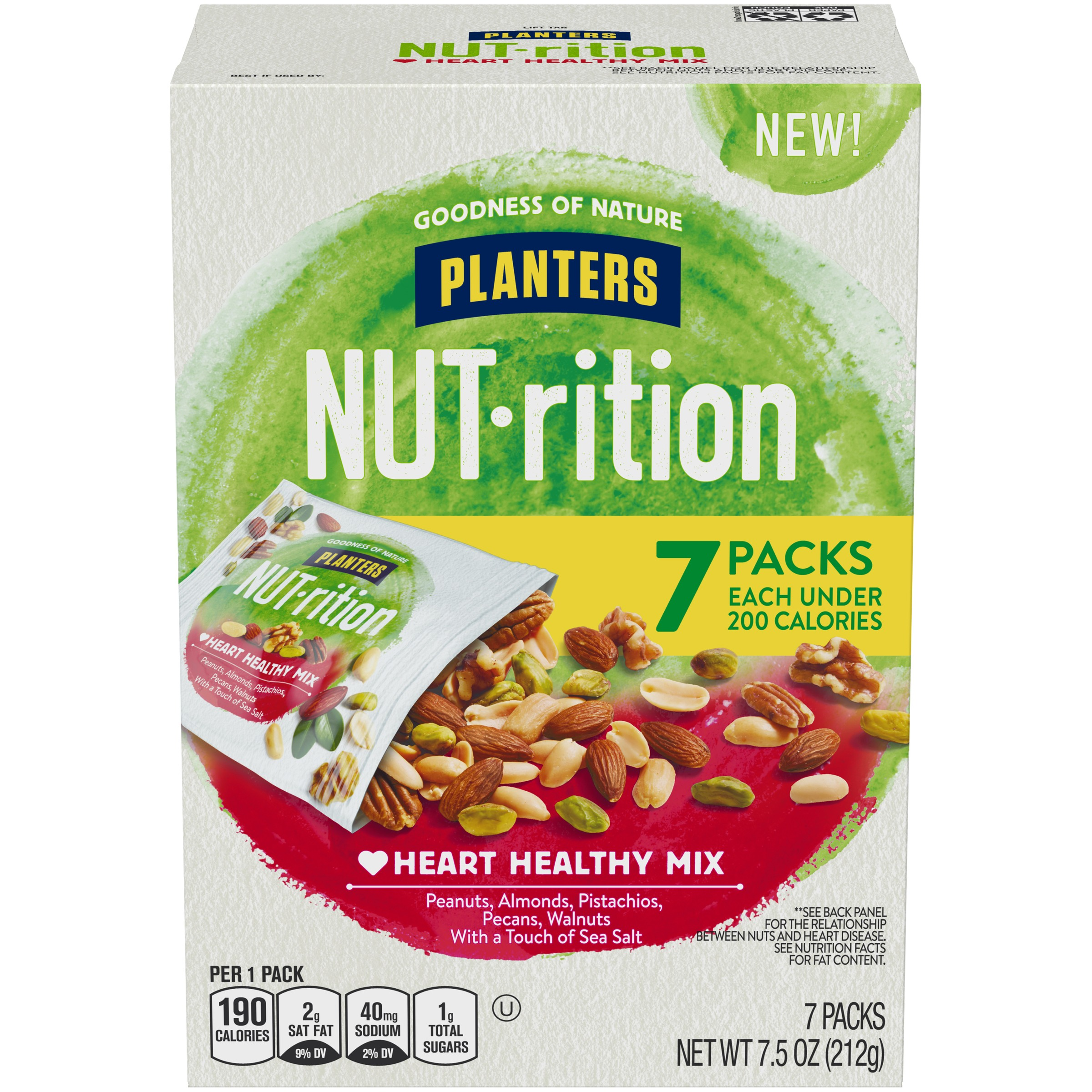 Planters NUT-rition Heart Healthy Mix 7 ct Box