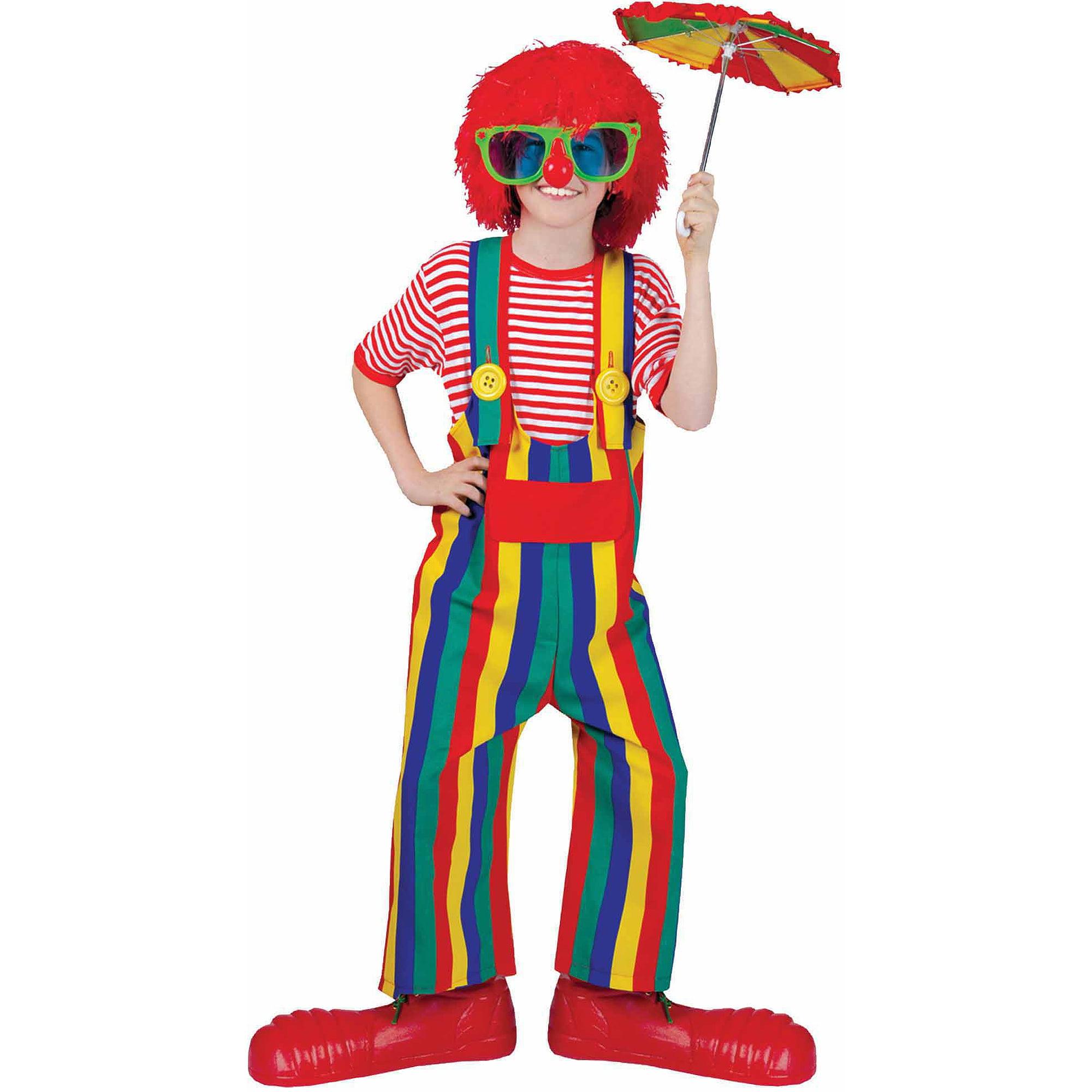 Striped Clown Overalls Child Halloween Costume