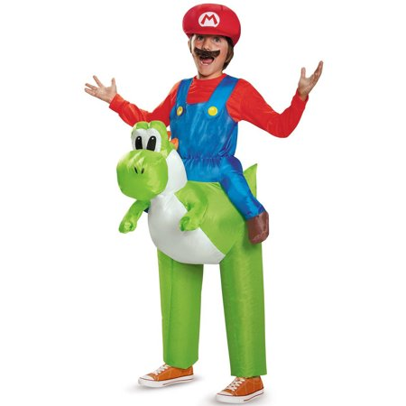 Super Awesome Halloween Costumes (Super Mario Bros Mario Riding Yoshi Inflatable Child Halloween Costume, 1)