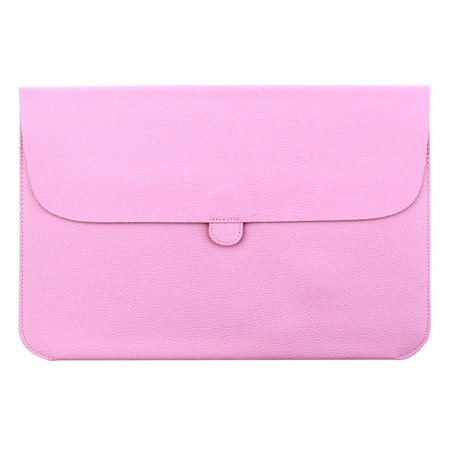 Solo 15.4 Leather Laptop - Computer PU Leather Protective Case Laptop Sleeve Pink for MacBook 15.4 Inch
