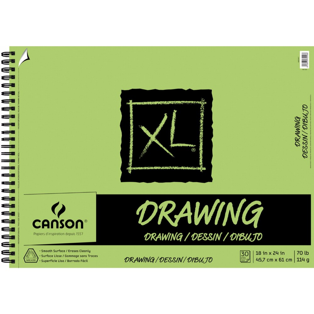 Canson Xl Top Wire Binding Drawing Pad, 18 x 24 In.