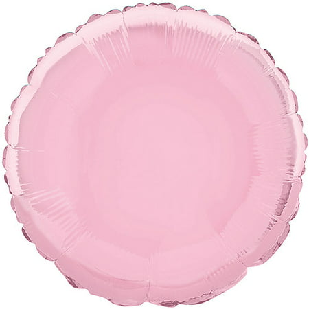 Foil Balloon, Round, 18 in, Light Pink, 1ct (Pink Foil)