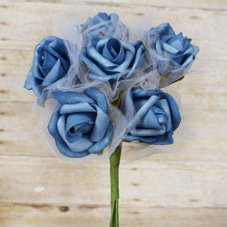 Beautiful Centerpieces (72 Beautiful Silk Roses Wedding Bouquet Vase Centerpiece Floral -)