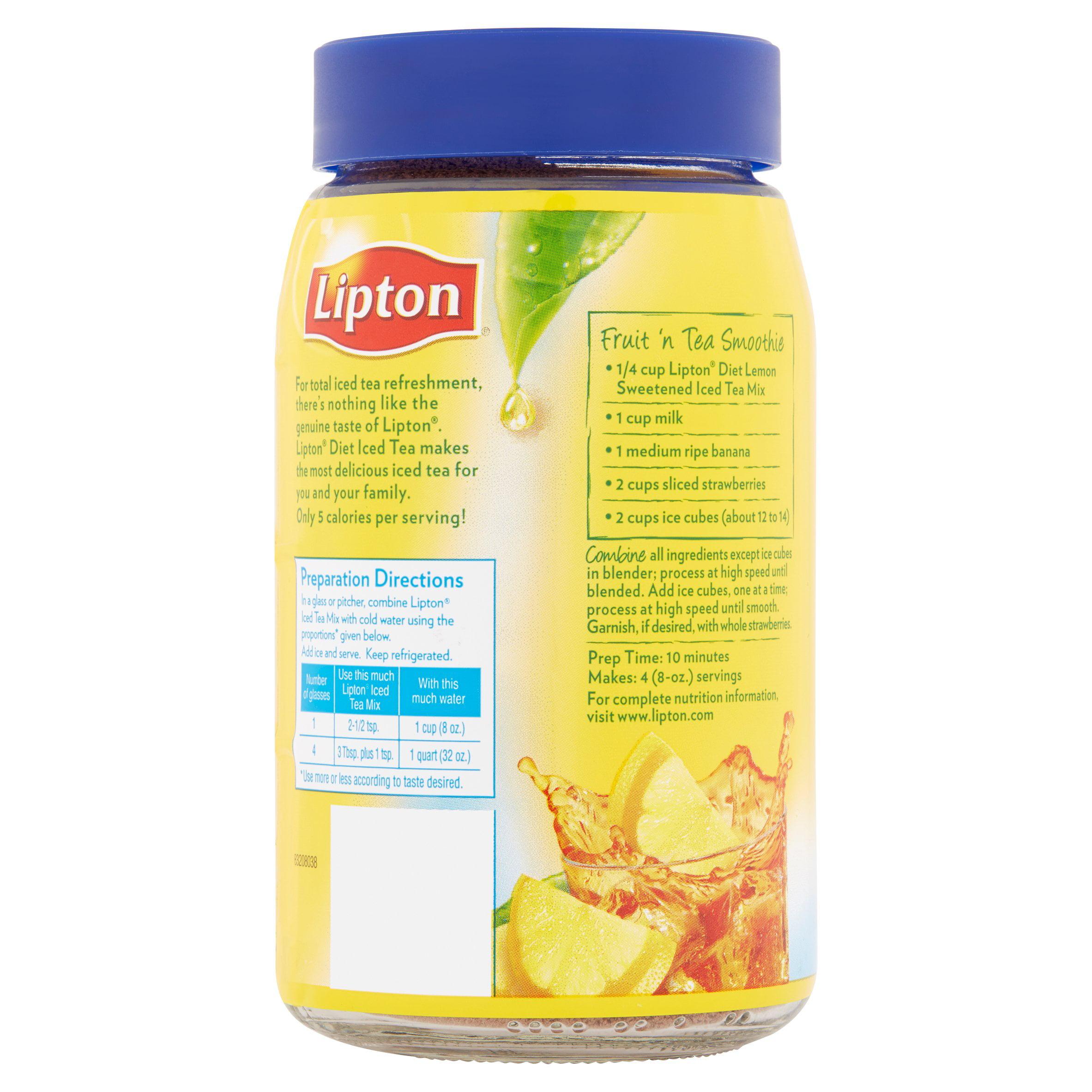 Lipton Black Iced Tea Mix Diet Lemon 10 Qt   Walmart.com