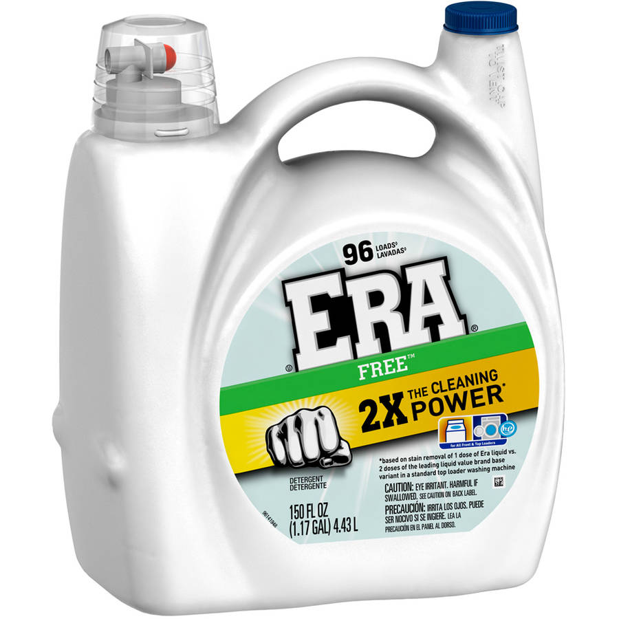 Era 2x Ultra Free Liquid Laundry Detergent, 96 Loads, 150 fl oz