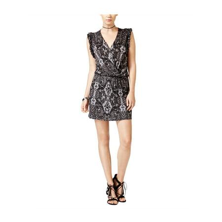 Chelsea Sky Womens Lace Print Blouson A-line Dress