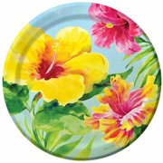 Heavenly Hibiscus Plates, 18-Pack