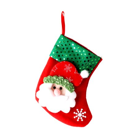 Christmas Decor Decoration Santa Stocking Sock Hanging Gift Bag