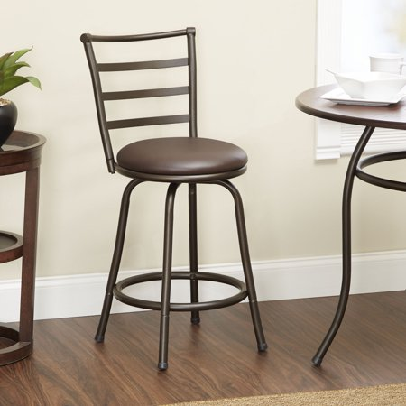 Mainstays 24 Quot Ladder Back Black Barstool Multiple Colors