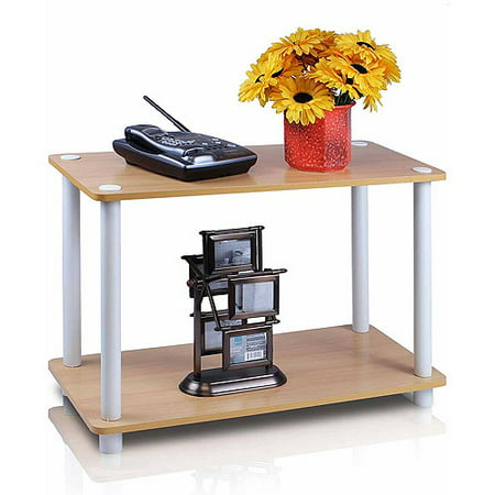 Furinno 11250 Turn-N-Tube 2-Tier No-Tools Shelf End Table Plant Stand