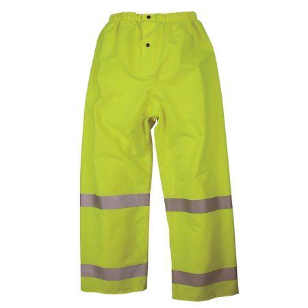 NASCO Rain Pants, Hi-Vis Ylw/Green, XL 101PFYX