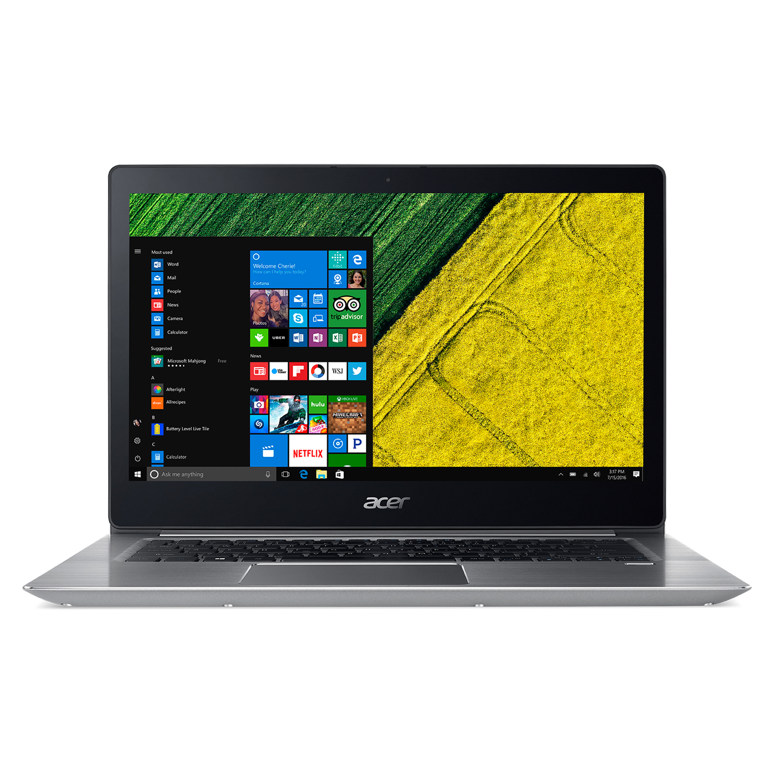 "Acer Swift 3, 15.6"" Full HD, 8th Gen Intel Core i5-8250U, NVIDIA GeForce MX150, 8GB DDR4, 256GB SSD, Windows 10, SF315-51G-51CE"