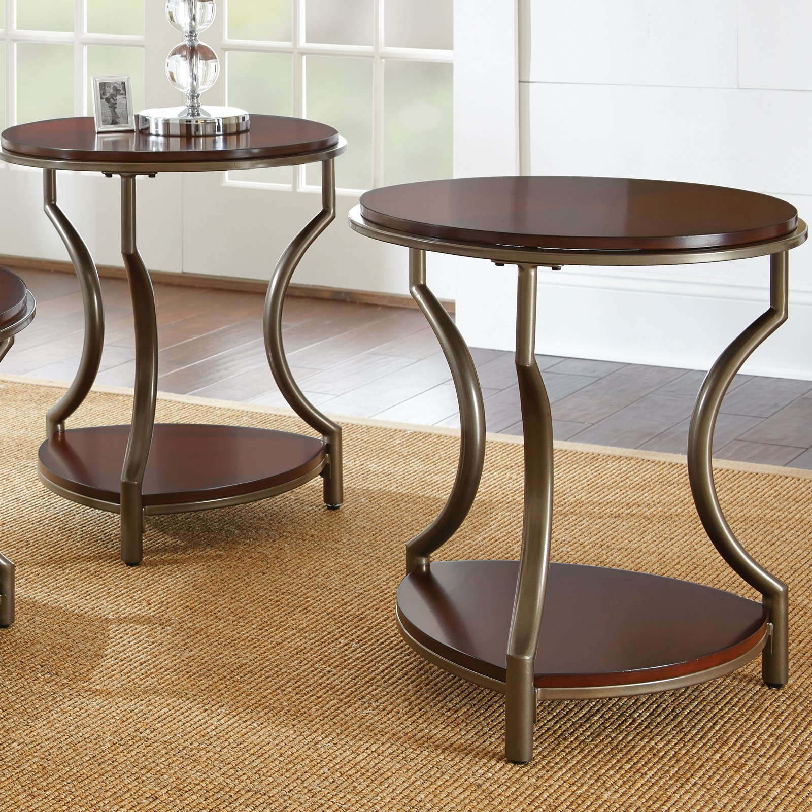Steve Silver Maryland End Table - Medium Cherry