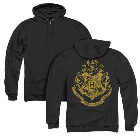 Trevco Sportswear HP8041BK-AZH-6 Harry Potter & Hogwarts Crest Back Print Adult Zipper Hoodie   Black - 3X - image 1 de 1