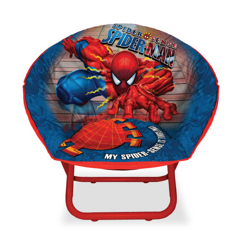 Marvel Spiderman Mini Saucer Chair, Available in Multiple Characters by Idea Nuova