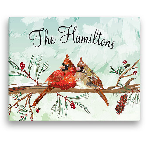 """Personalized Cardinal Couple 11"""" x 14"""" Canvas"""