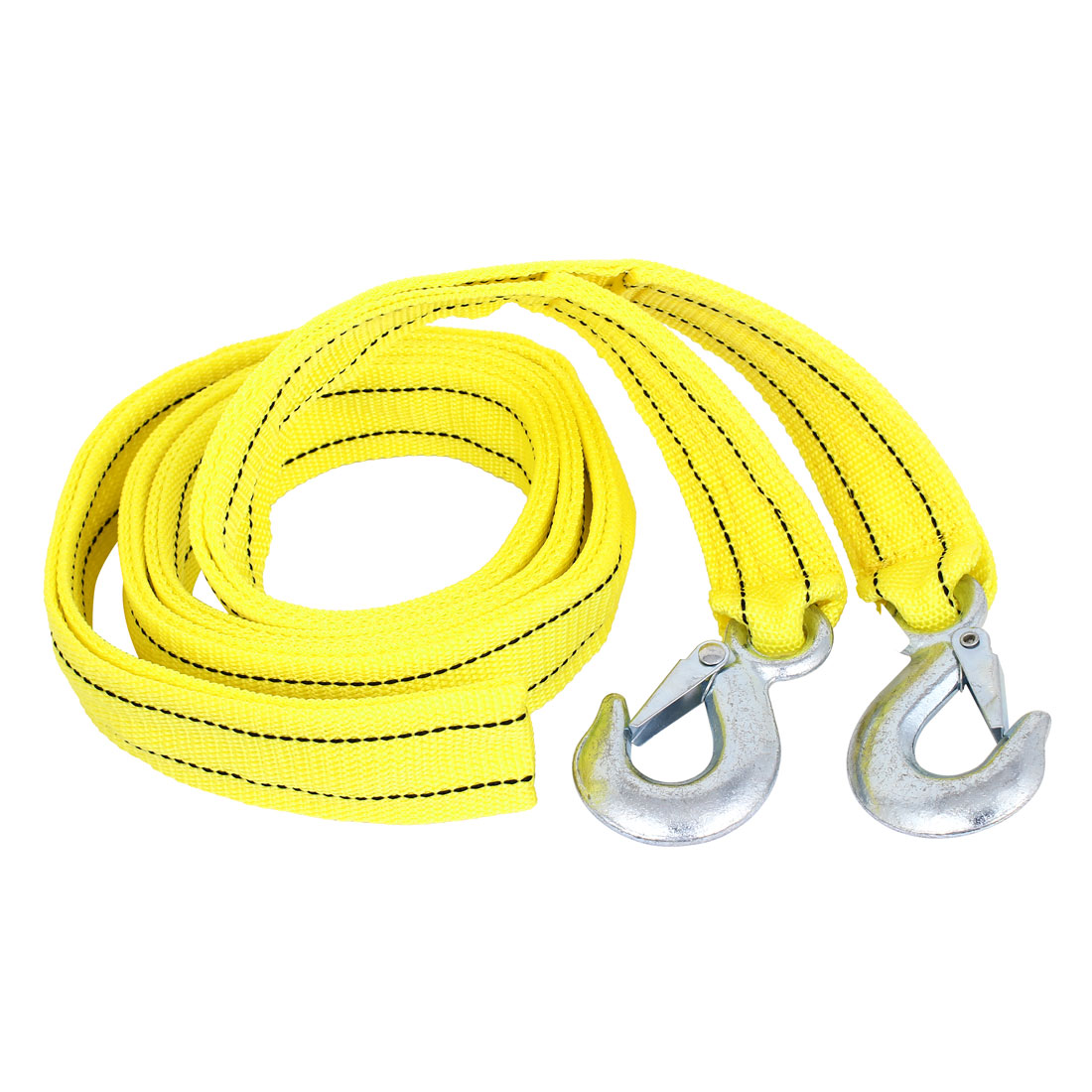5 Tons 4M 13ft Long Nylon Car Trailer Towing Webbing Strap Yellow by Unique Bargains