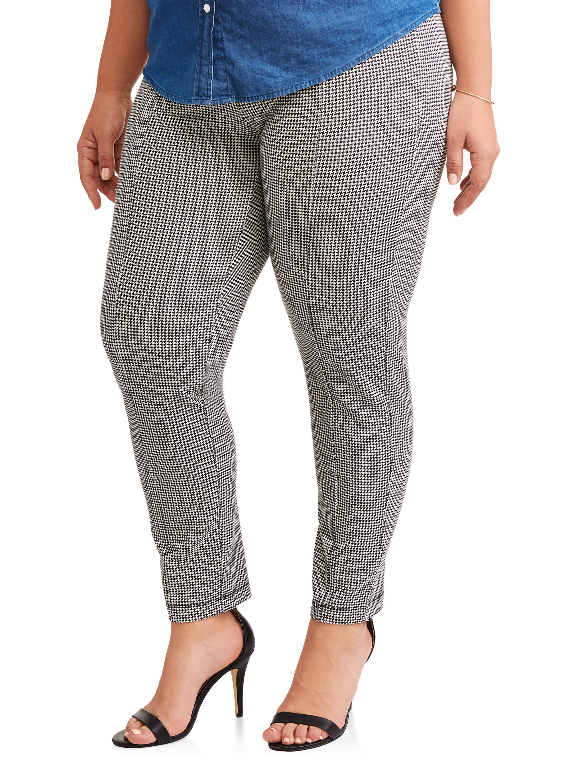 60bb3beeeba Terra   Sky - Women s Plus Stretch Woven Straight Leg Pull On Pant - Walmart .com