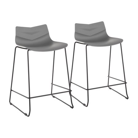 Arrow Contemporary Counter Stool in Black and Grey by LumiSource - Set of (Page Contemporary Counter)