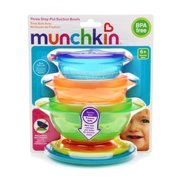 Munchkin Stay-Put Suction Bowls 3 ct (Quantity of 4)