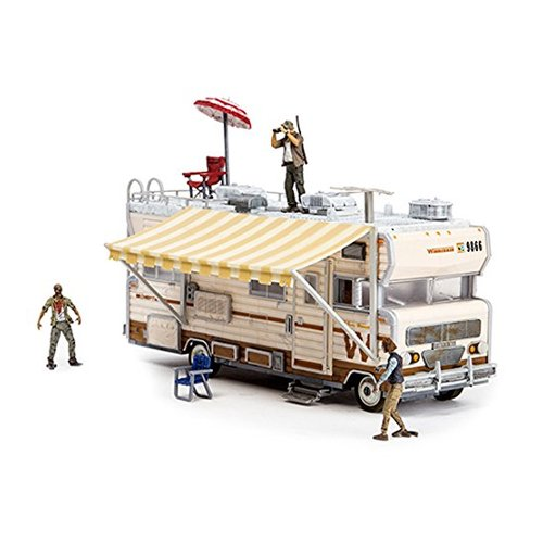 Toys Construction Sets- The Walking Dead TV Dale's RV SetFeatures functioning wheels and door with mosquito screen By McFarlane