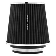 Spectre Performance 8131 Universal Clamp-On Air Filter: Round Tapered; 3 in/3.5 in/4 in (102 mm/89 mm/76 mm) Flange ID; 6.719 in (171 mm) Height; 6 in (152 mm) Base; 4.75 in (121 mm) Top