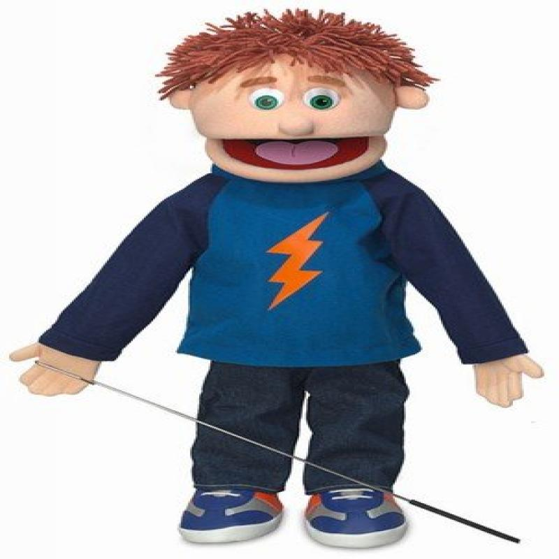 "25"" Tommy, Peach Boy, Full Body, Ventriloquist Style Puppet"