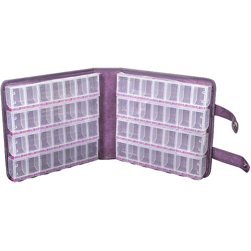 "Craft Mates Lockables Large Purple Ultrasuede Organizer Case 9""X9.5""X2.5"""