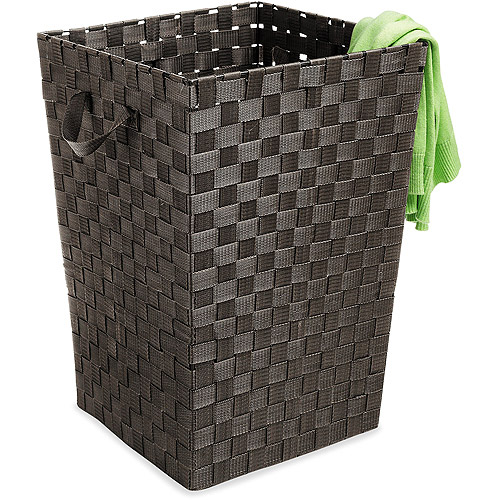 Whitmor Woven Strap Hamper, Espresso by Whitmor