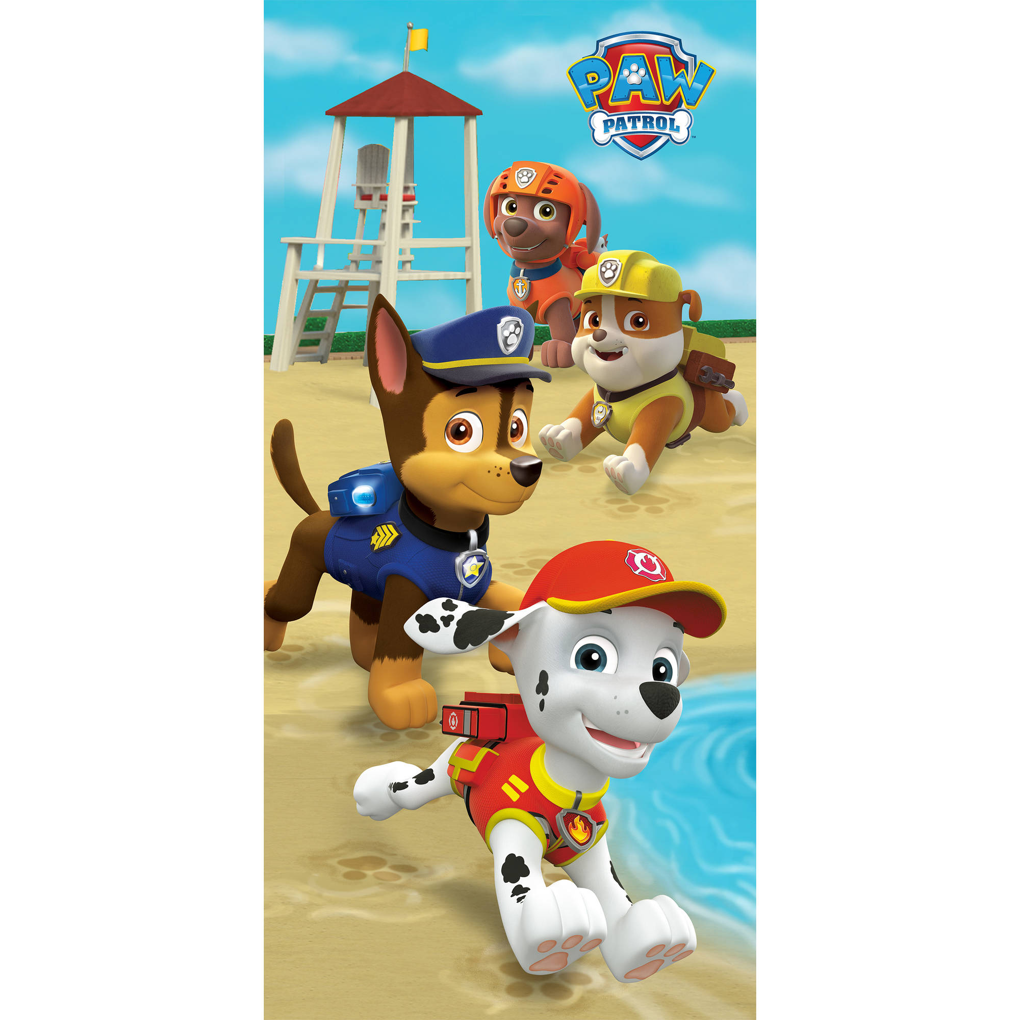 Paw Patrol Puppy Run Beach Towel