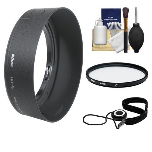 Nikon HB-45 Bayonet Lens Hood for Nikon 18-55mm VR DX AF-S Zoom-Nikkor + Filter + Accessory Kit (with D40, D60, D90, D3000, D3100, D5000 & D7000 Digital SLR Camera)
