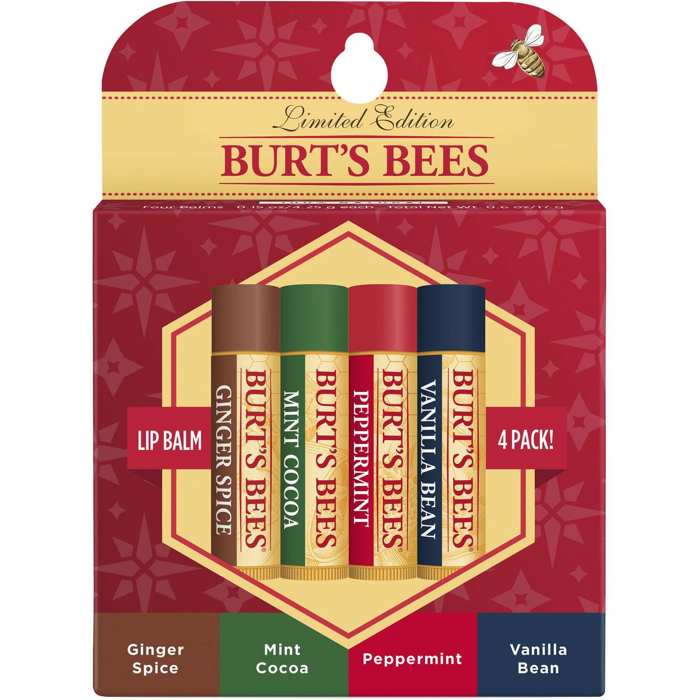 Burt's Bees Natural Moisturizing Lip Balm Holiday Gift Set, 4 Count